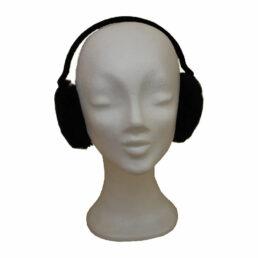 Fülvédő - fekete műszőr fülvédő