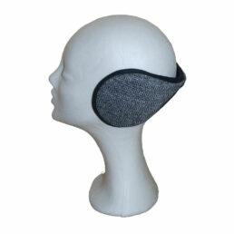 Fülvédő -  fekete halszálkás unisex fülvédő