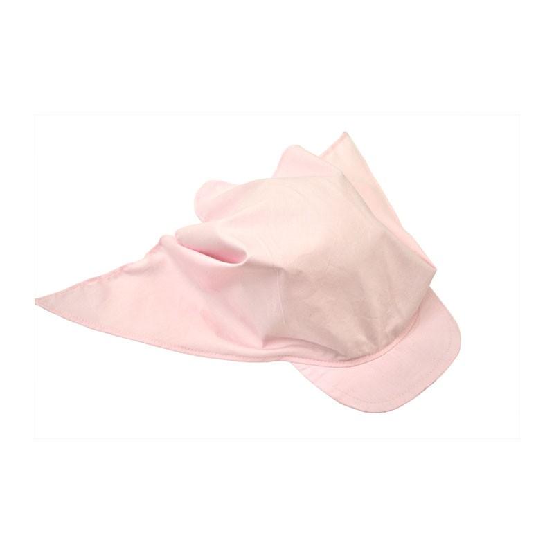 KOTRÁS siltes kendő rózsaszín nyári gyerek sapka