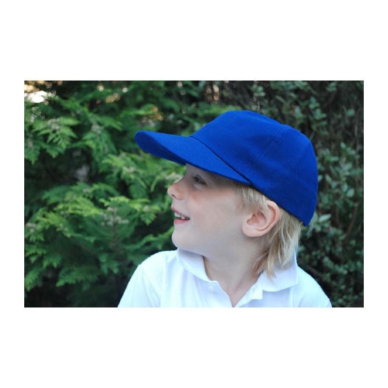KOTRÁS Kék vászon baseball nyári gyerek sapka
