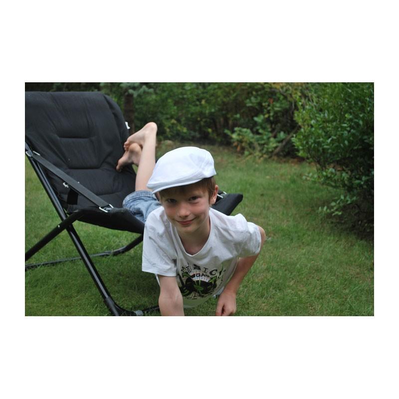 KOTRÁS Fehér vászon sport nyári gyerek sapka
