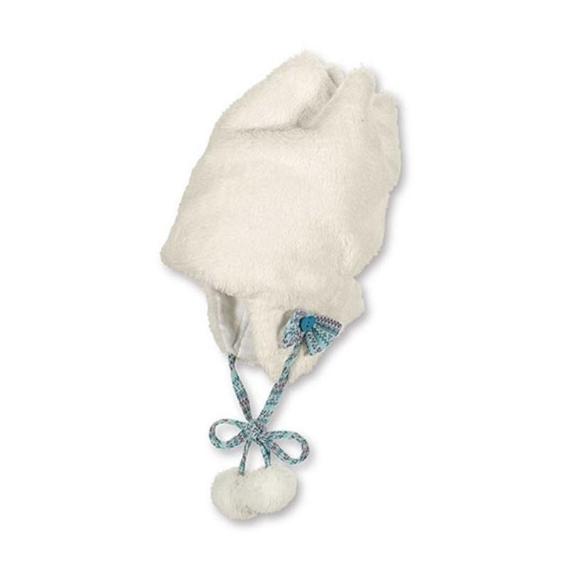STERNTALER műszőrme fehér kislány téli gyerek sapka