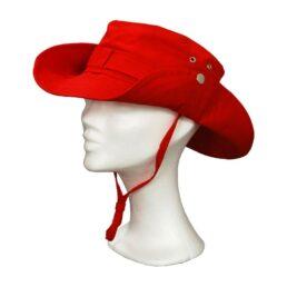 KOTRÁS vászon piros cowboy kalap