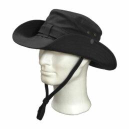 KOTRÁS vászon fekete cowboy kalap