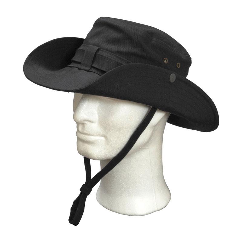 KOTRÁS vászon fekete cowboy kalap  3f319e39bf