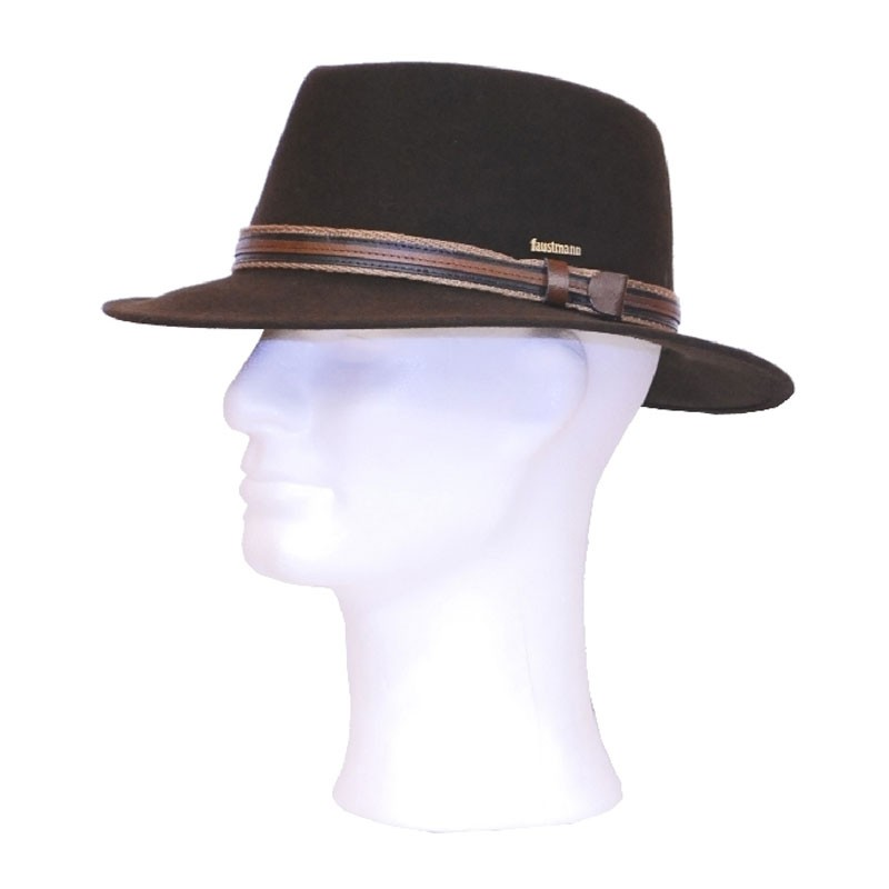 Kalap -  barna traveller férfi gyapjú kalap