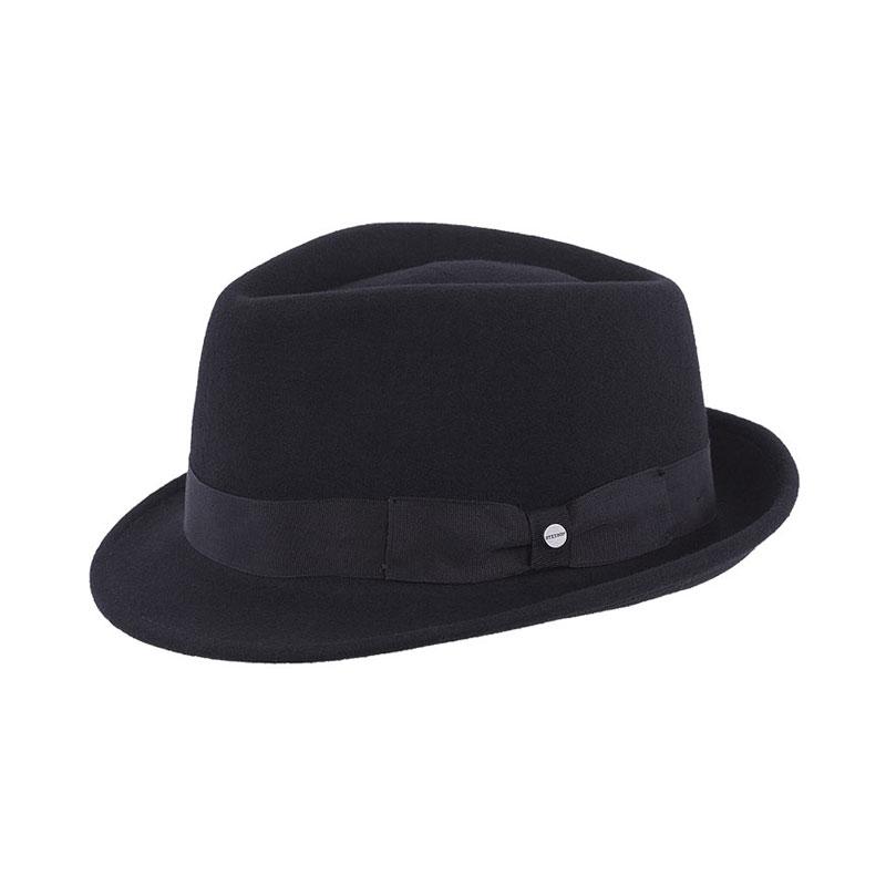 STETSON Richmond fekete férfi gyapjú kalap