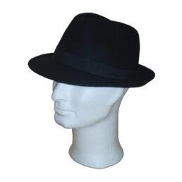 Kalap -  fekete klasszikus férfi gyapjú kalap