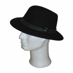 Kalap -  fekete traveller férfi gyapjú kalap