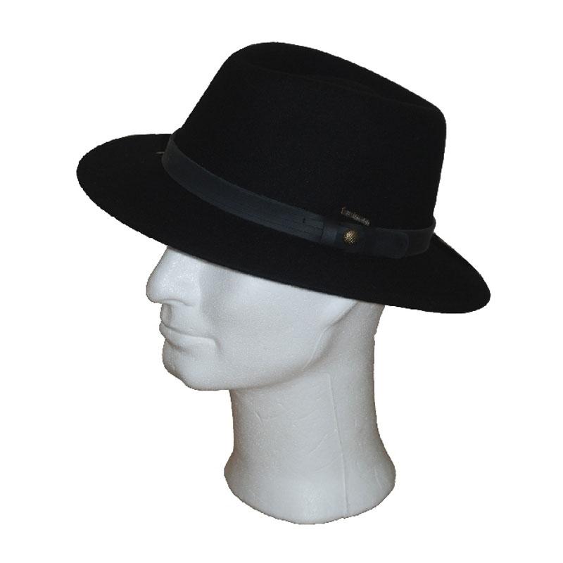 Kalap - fekete traveller férfi gyapjú kalap  97497a1087