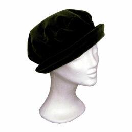 KOTRÁS zöld franciabársony körkarimás kalap