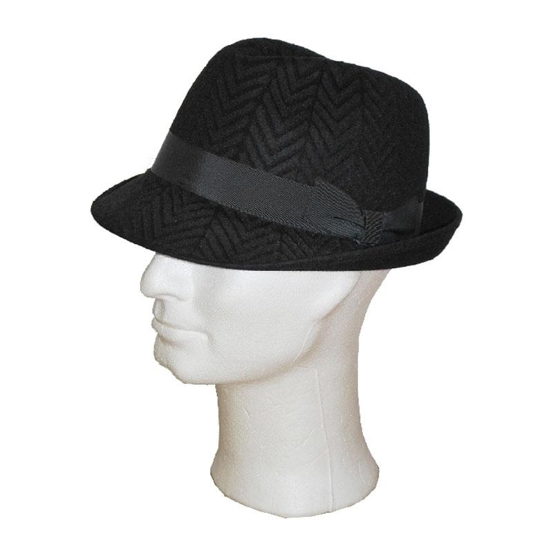 TONAK fekete 020 férfi nyúlszőr kalap