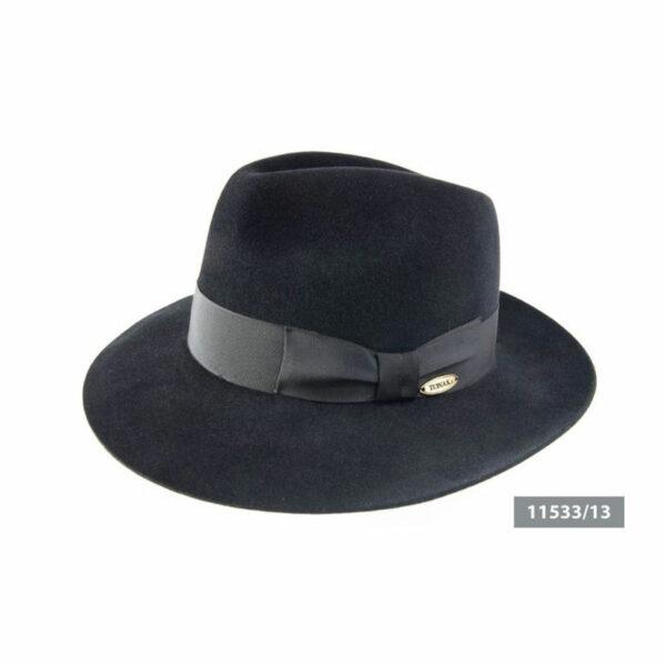 TONAK fekete nagykarimás 11533 férfi nyúlszőr kalap