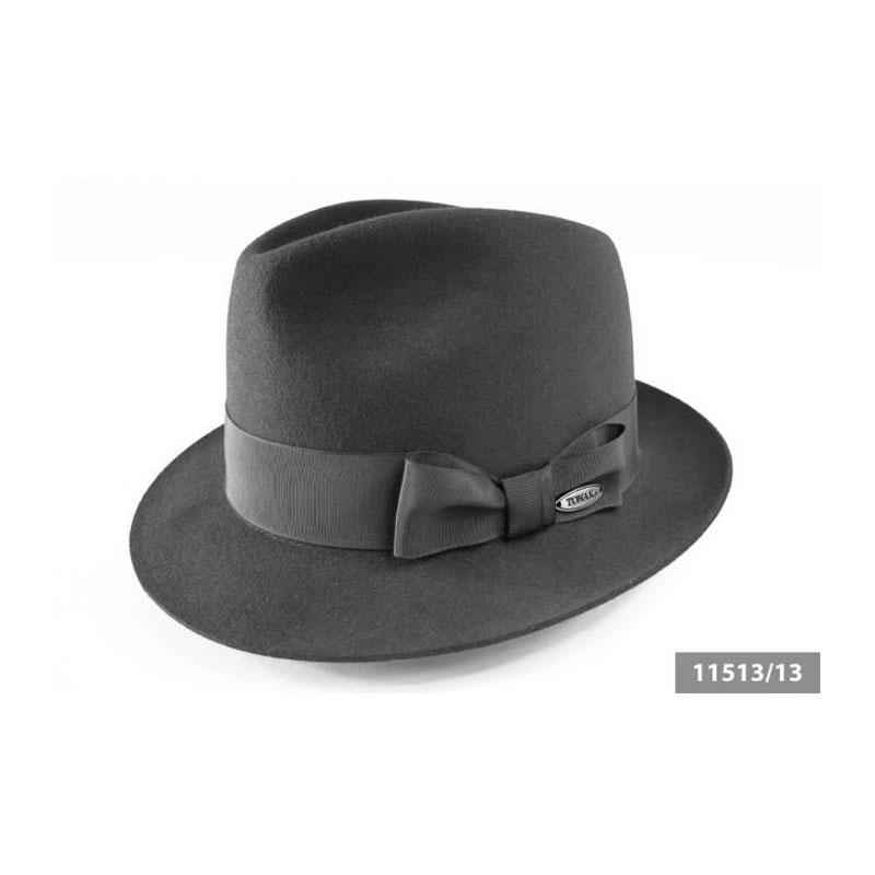 TONAK 11513 fekete kiskarimás férfi nyúlszőr kalap