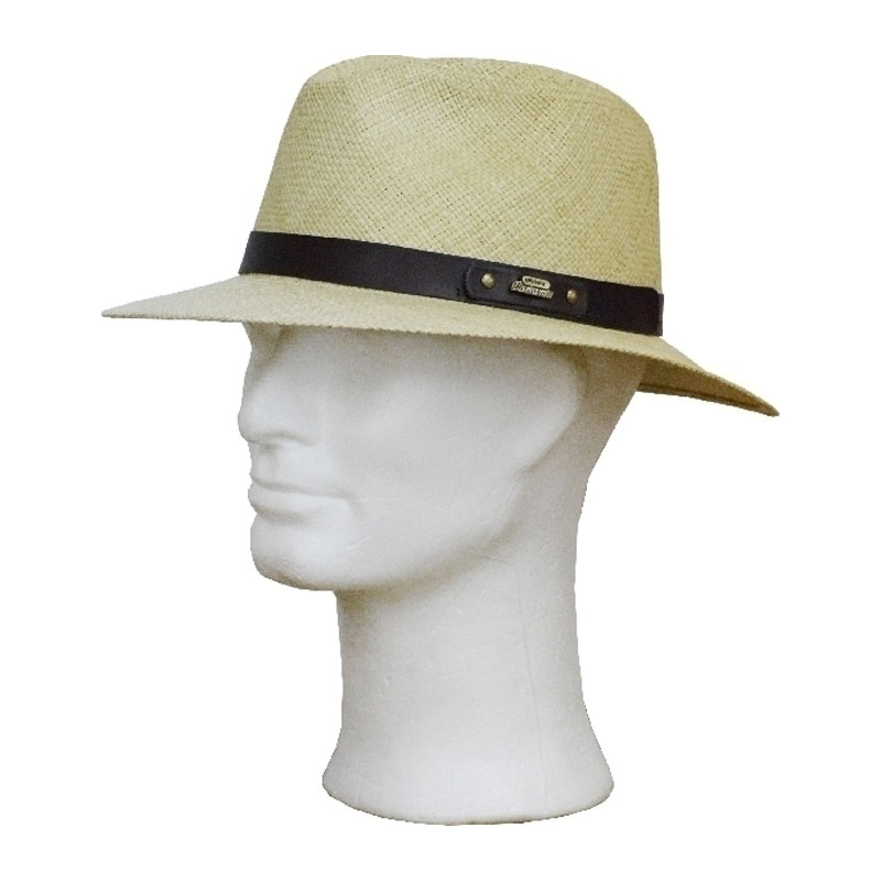 GÖTTMANN bőr pántos traveller panama kalap  cf6abb59da