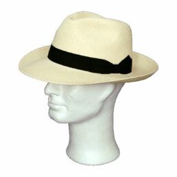 Kalap -  fekete szalagos panama kalap