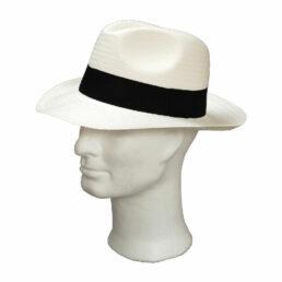 Kalap -  fehér férfi szalma kalap