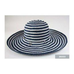 TONAK 30353 kék-fehér női szalma kalap