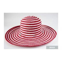 TONAK 30353 piros-fehér női szalma kalap
