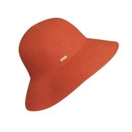 """Betmar """"Gossamer"""" narancs UV50+ női szalma kalap"""