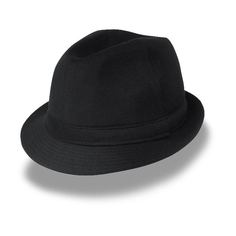 KOTRÁS fekete szövet kalap  9f762d8758