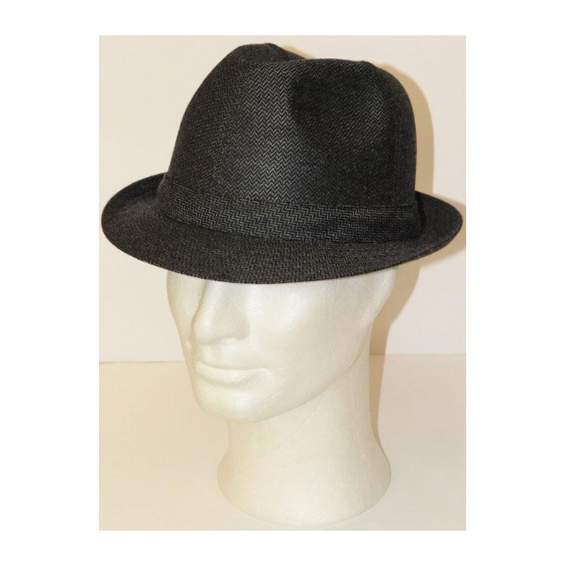 KOTRÁS szürke apró mintás szövet kalap