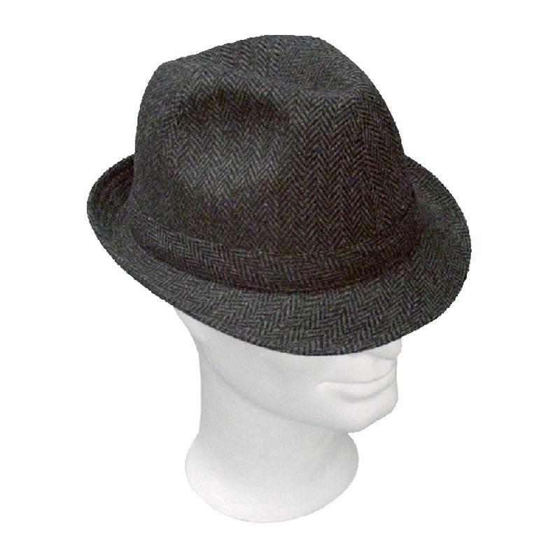 KOTRÁS szürke halszálkás bécsi szövet kalap  b917d94269