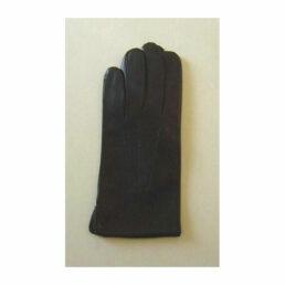 Kesztyű - selyem béléses férfi fekete bőr kesztyű