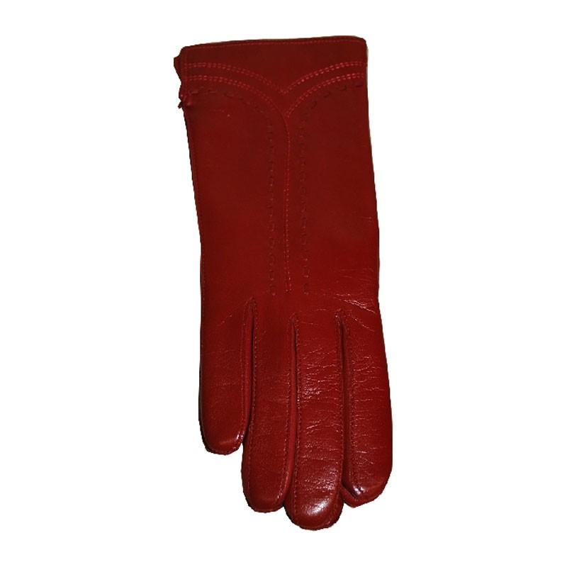 Kesztyű - női piros 902 bőr kesztyű