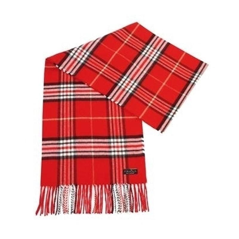 FRAAS kockás piros téli sál