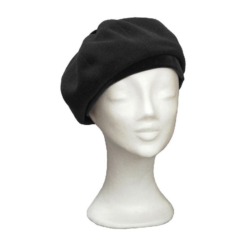 KOTRÁS fekete bársonnyal díszített női barett sapka  9fd36dd5ba