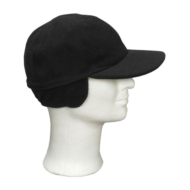 KOTRÁS fekete gyapjú szövet füles baseball sapka  576082f7a2