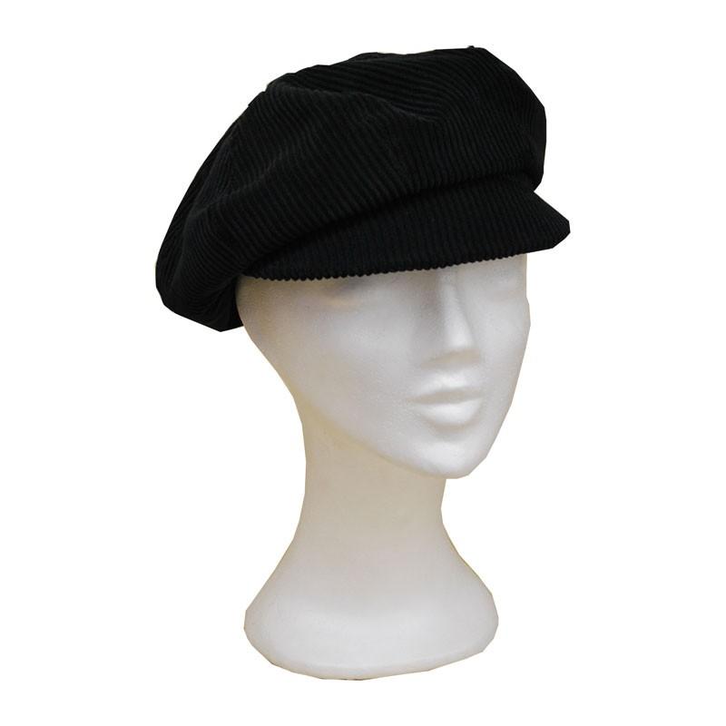 KOTRÁS női kordbársony fekete cikkes sapka  6cdd12bcd8
