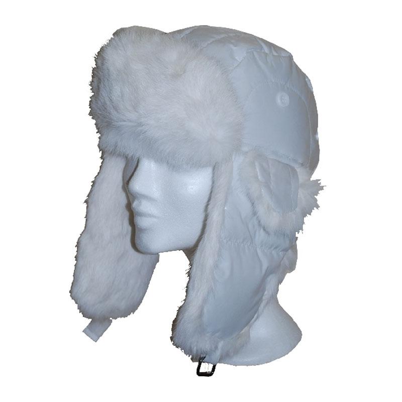 McBurn fehér nyúlszőrrel usánka sapka  95b9ae1810