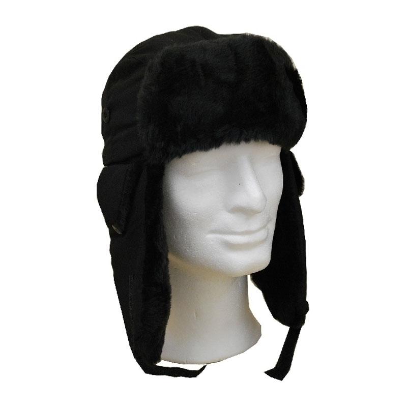 Sapka - műszőrmés fekete usánka sapka  9c99127a7b