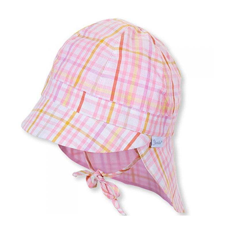 STERNTALER rózsaszín kockás Uv50+ nyári gyerek sapka