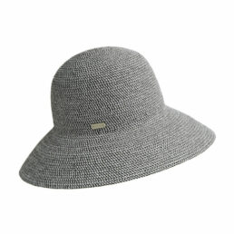 Betmar GOSSAMER fekete melíros női szalma kalap