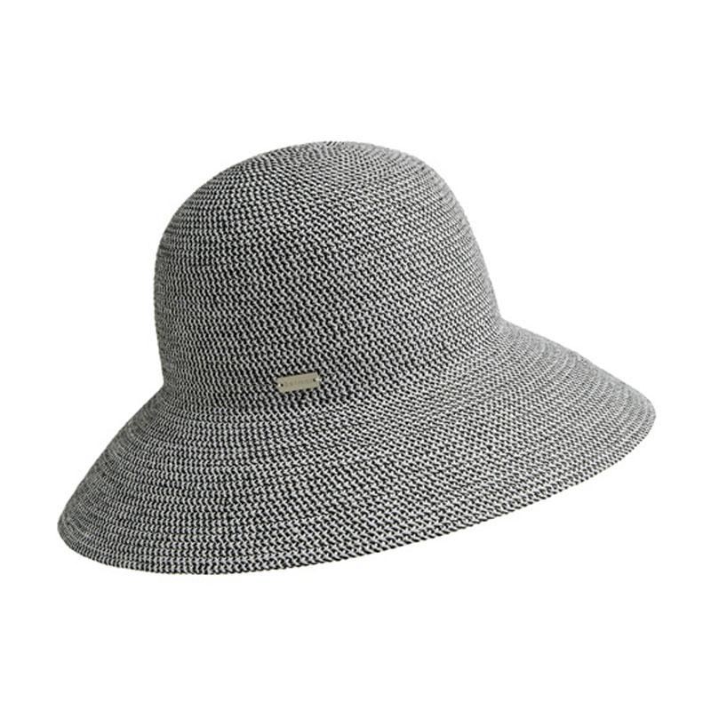 Betmar GOSSAMER fekete melíros női szalma kalap  bbd39a0f38