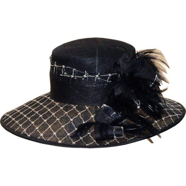 TONAK fekete-fehér alkalmi kalap