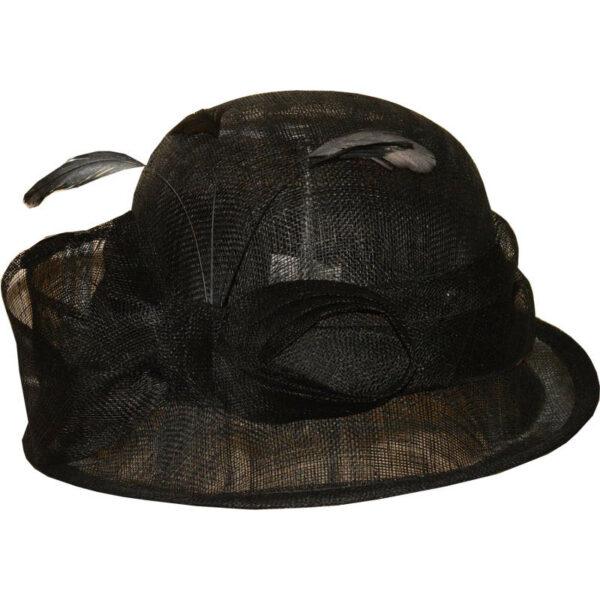 fekete kiskarimás alkalmi kalap