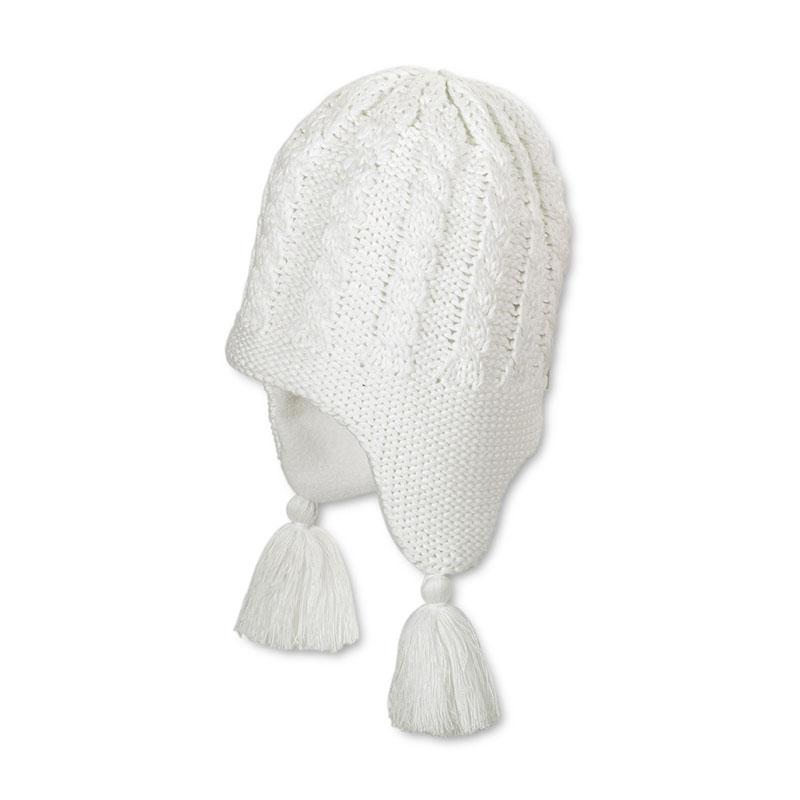 STERNTALER krémszínű kötött téli gyerek sapka