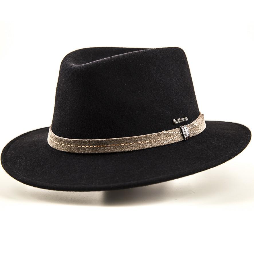 Barett fekete-barna pántos férfi gyapjú kalap 6575e4c8ea