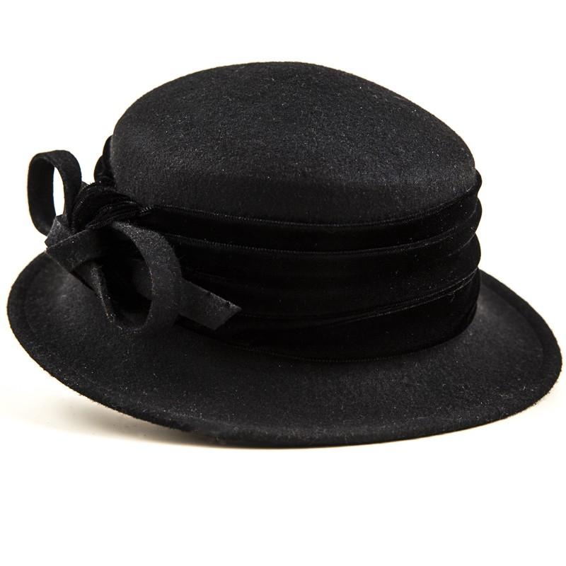 Barett fekete kiskarimás női gyapjú kalap 33457a4761