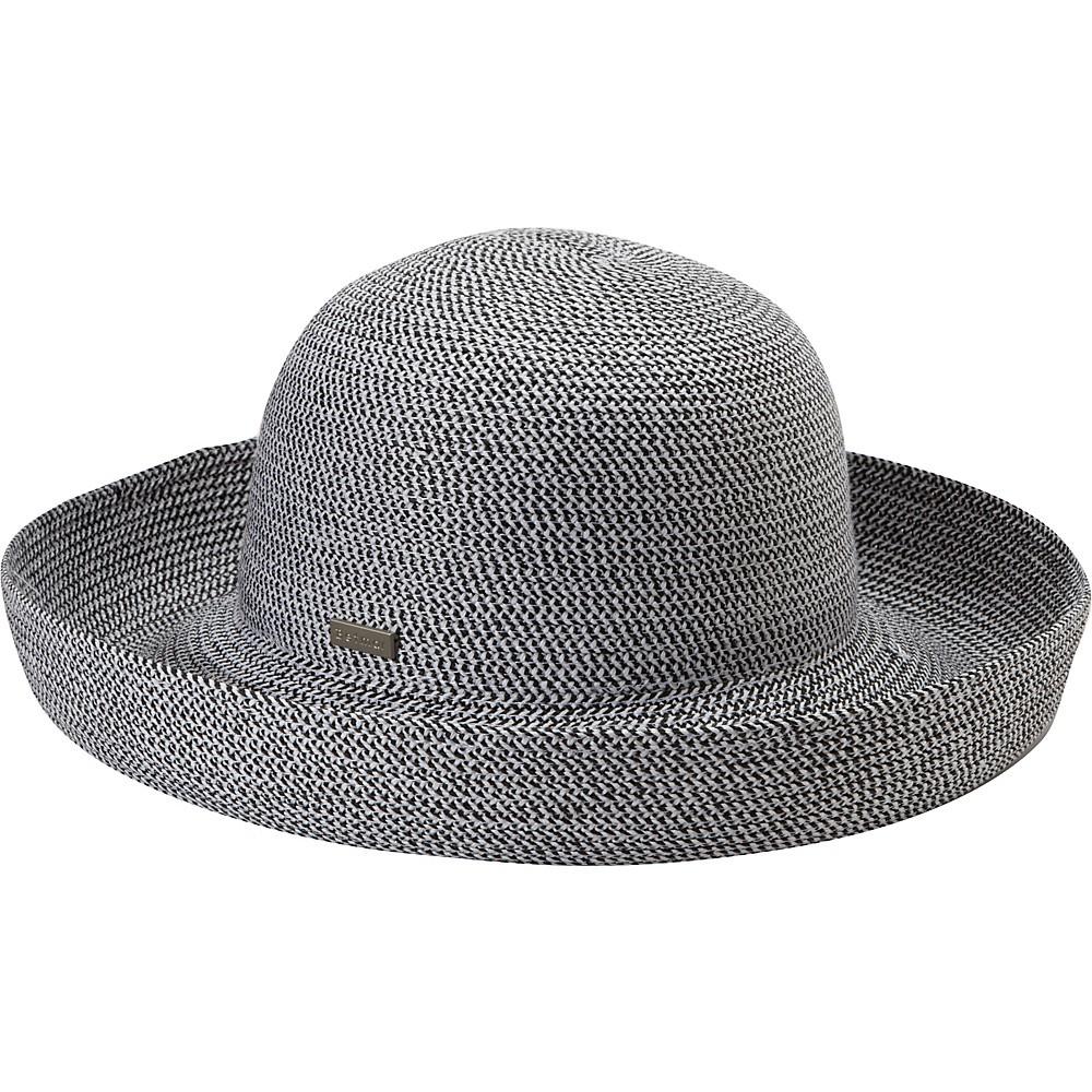 Betmar Classic Roll Up fekete-fehér melír női szalma kalap UV50+ ... 7246dce649