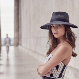 SEEBERGER hátul méretállítós női szalma kalap