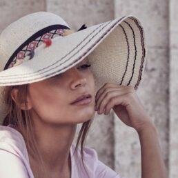 SEEBERGER nagykarimás női szalma kalap