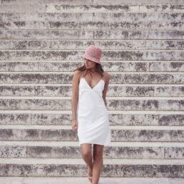 SEEBERGER horgolt fagyi színű női szalma kalap
