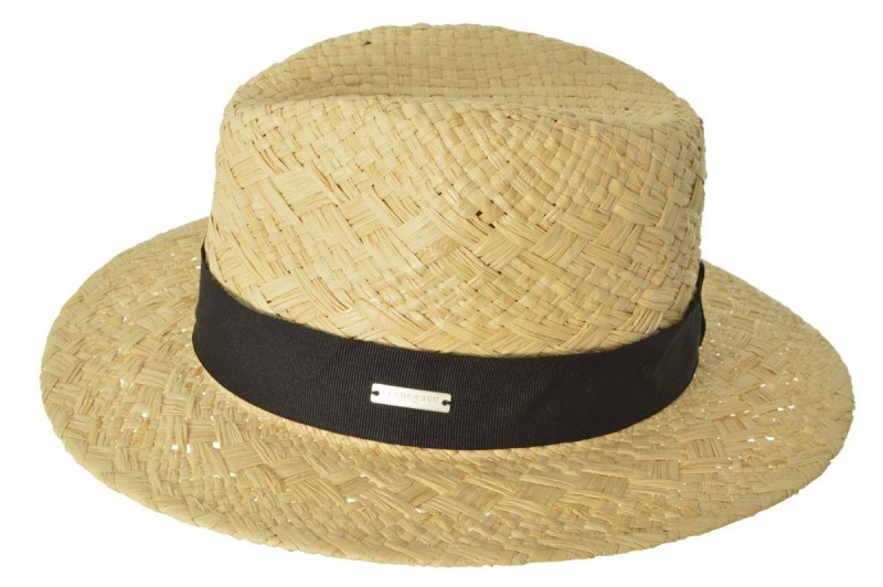 SEEBERGER natur fekete szalaggal férfi szalma kalap 7f8cf6147c