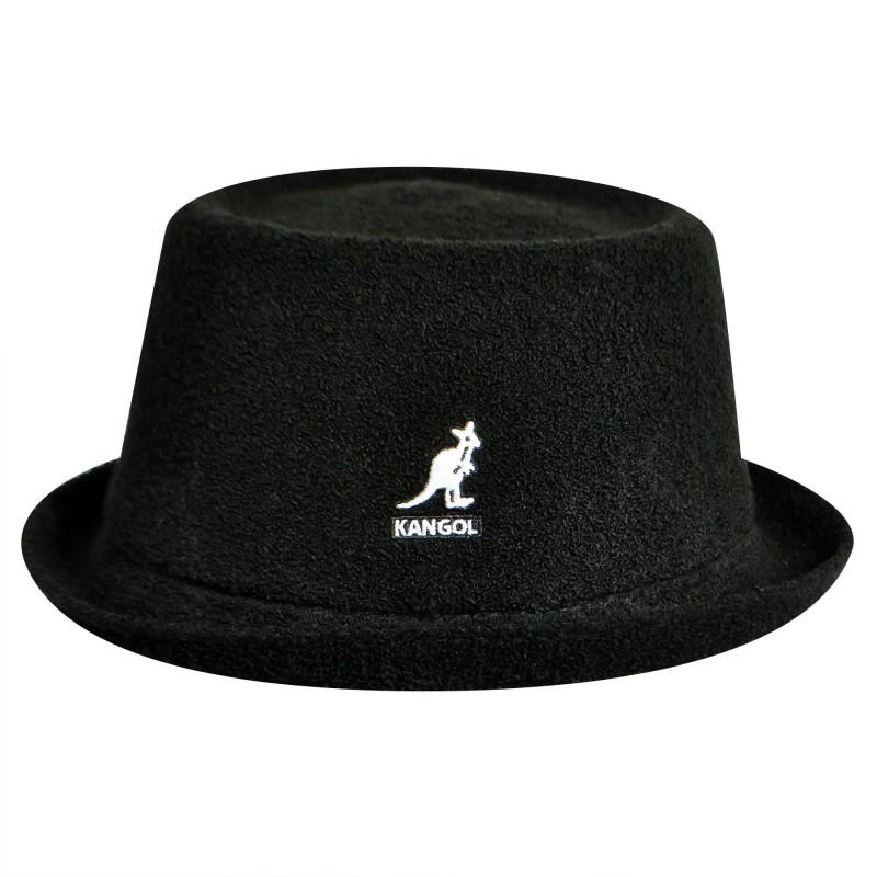 KANGOL Bermuda Mowbray fekete Porkpie kalap