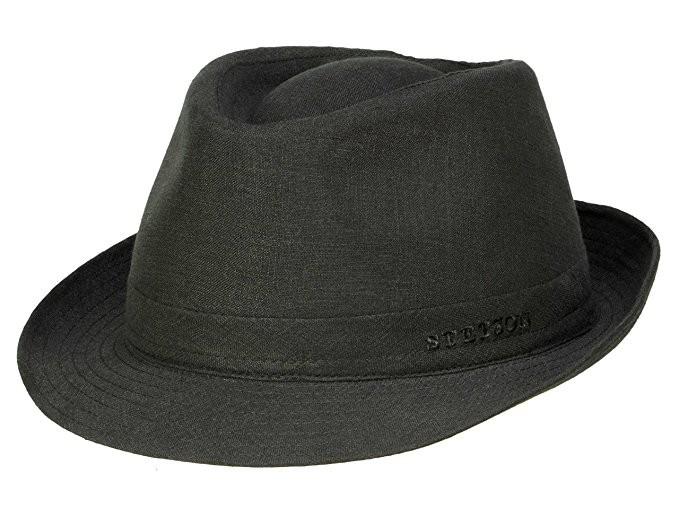 STETSON Trilby fekete vászon nyári kalap